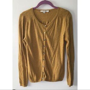 Boden golden/mustard yellow button up cardigan